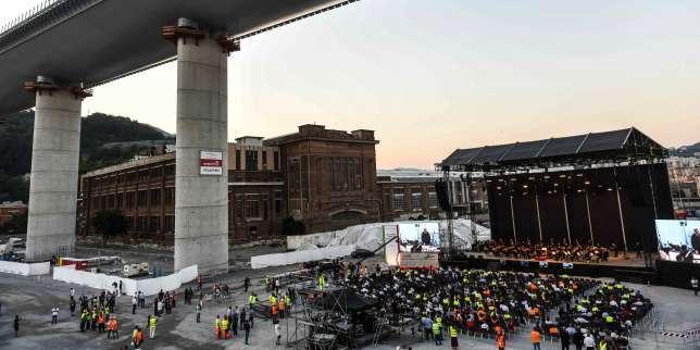 Chantier d'exception, le nouveau pont de Gênes est inauguré lundi