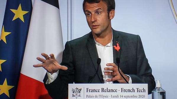 """Emmanuel Macron assure que la France """"prendra le tournant de la 5G"""", critiquant ceux qui lui préfèrent """"le modèle Amish"""""""